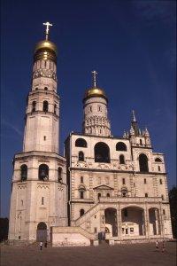 Moscou. Eglise orthodoxe à l'intérieur du Kremlin. 12 juillet 1994.