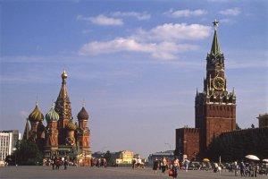 Moscou, la Place Rouge. 12 juillet 1994.