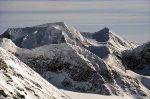 Vue depuis le sommet de Tielma. 4 avril 1989.