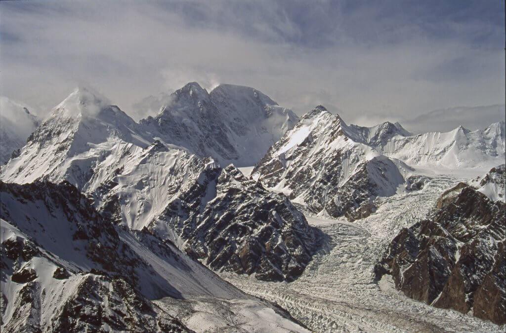 Le versant Nord du Chongtar Kangri (7330m) et le Chongtar Glacier. 28 septembre 1993.