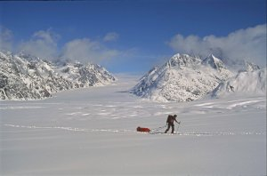 Groenland. Massif du Mont Forel. 30 avril 1997.