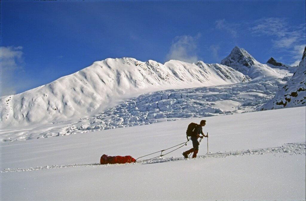 Début de la montée du glacier Terray. 30 avril 1997.