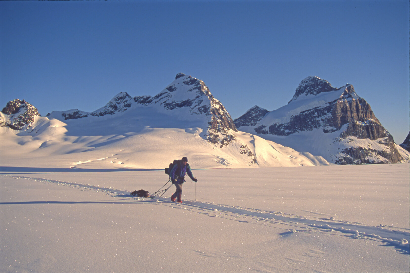 Groenland, massif du Mont Forel. 2 mai 1997.