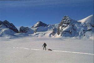 Sur le glacier Habets. 2 mai 1997.