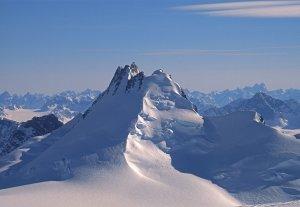 En montant au dôme Boivin. Vue vers le glacier de Paris. 20 avril 1997.