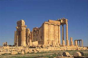 Palmyre, le temple de Bêl. Détruit par l'EI en août 2015