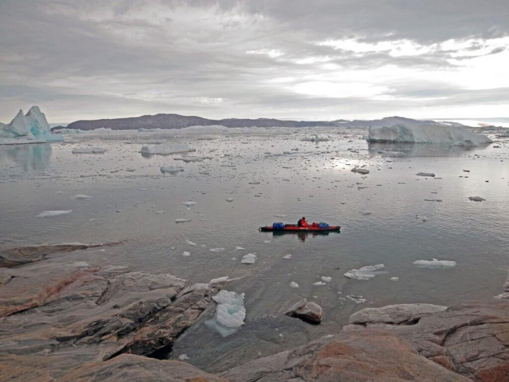 Traversée Upernavik-Kullorsuaq - Devant le camp 17 le 18 août 2012.