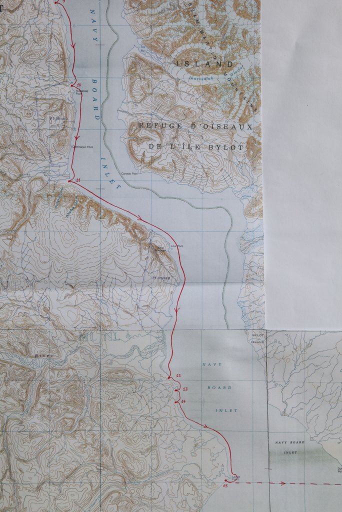 Carte 3 - Navy Board Inlet - Camps 10 à 15.