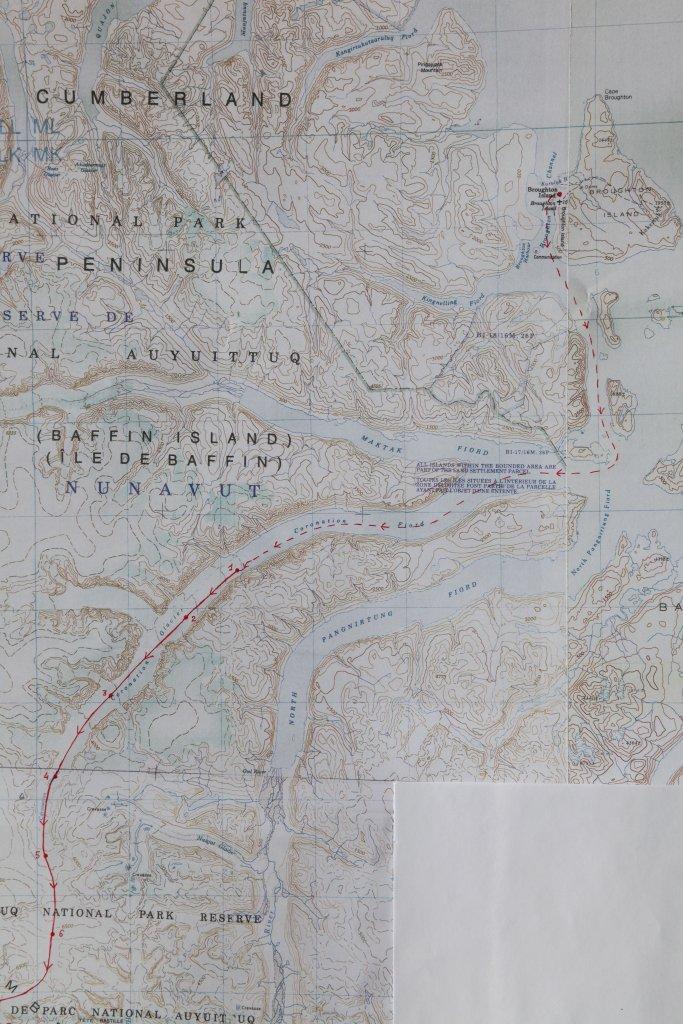 BAFFIN 2002/2 - Carte 1- Le massif de l'Asgard.