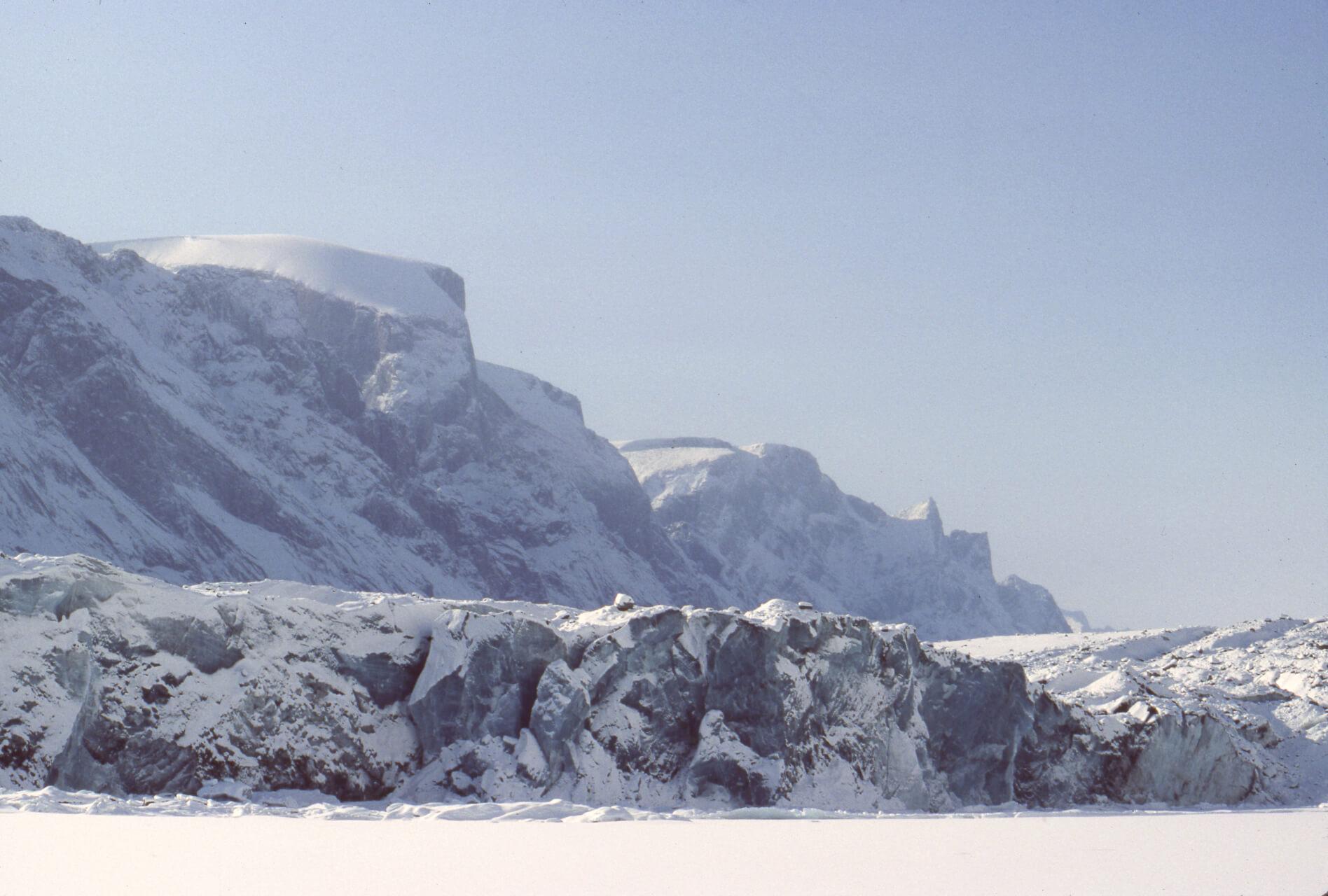 Le front du glacier du Couronnement