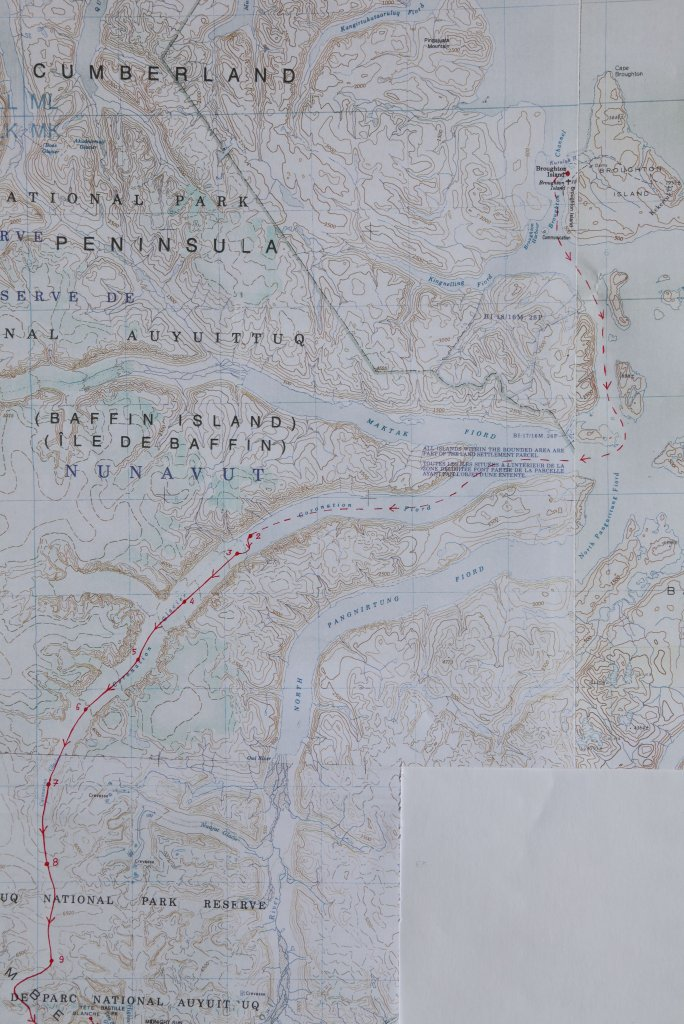 Carte de la partie nord du raid de 1982.