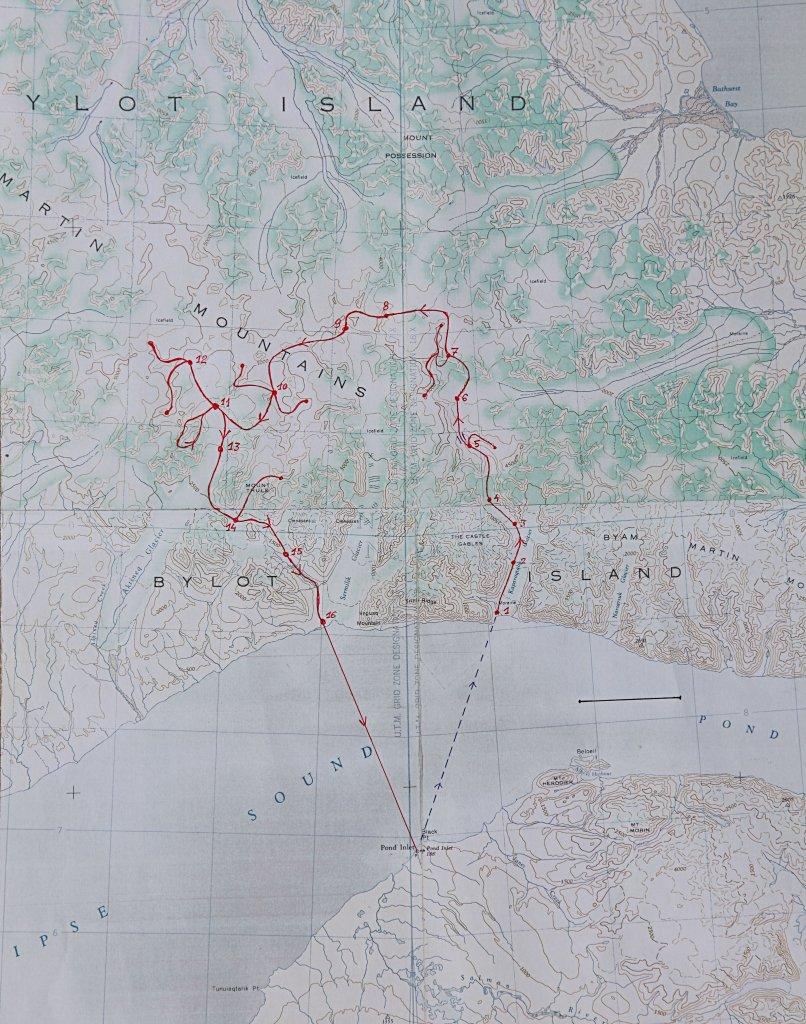 Le sud de l'île de Bylot, carte d'ensemble.