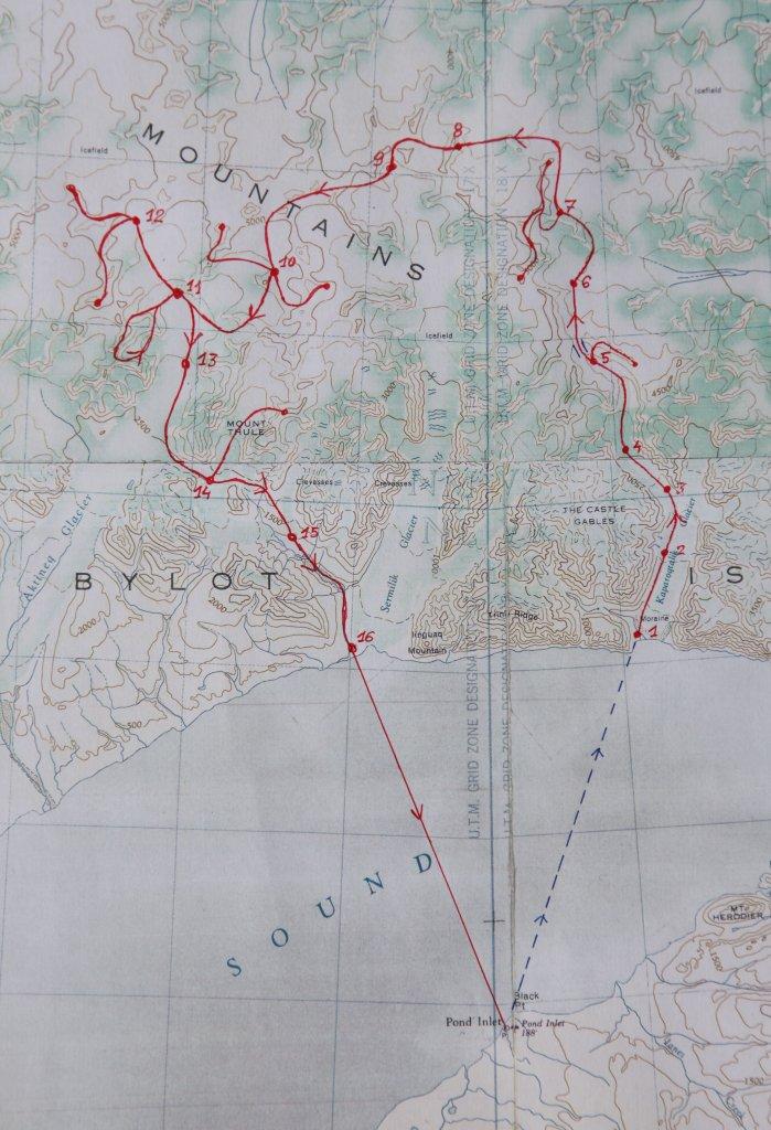Ile de Bylot, carte détaillée.