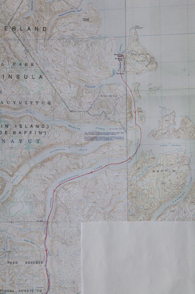 Carte de la partie nord du raid de 2002.