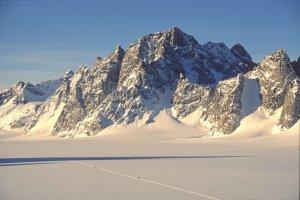 Sur le glacier des Fantômes. 4 mai 1997.