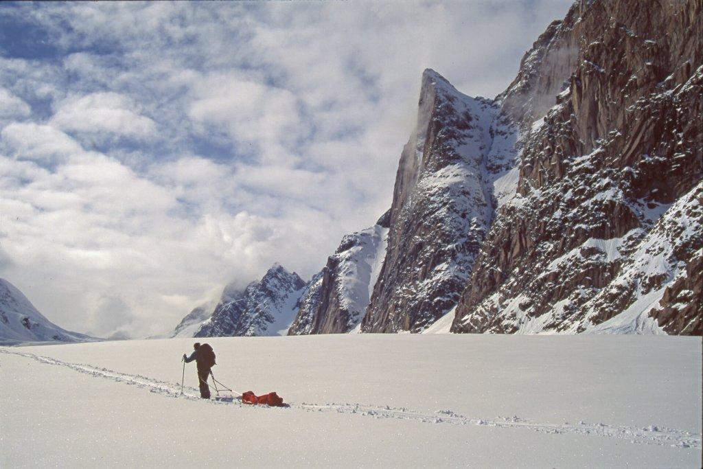 Sur le glacier Terray. 30 avril 1997.