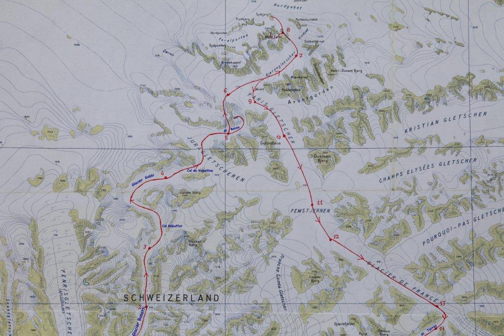 La partie nord vers le Mont Forel.