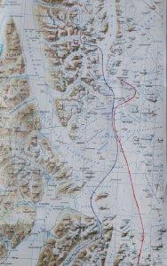 Carte des randos de 1980 et 1985. Partie Nord.