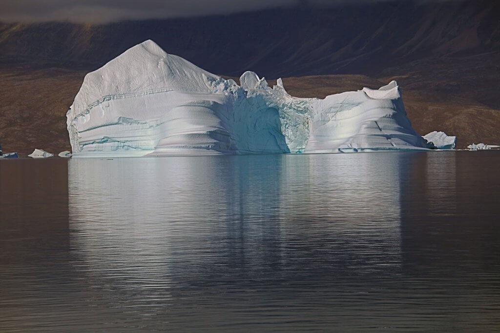 Iceberg dans le Harefjord le 18 août 2010.