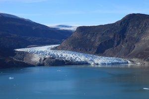 Le Harefjord et le glacier sud - 20 août 2010.