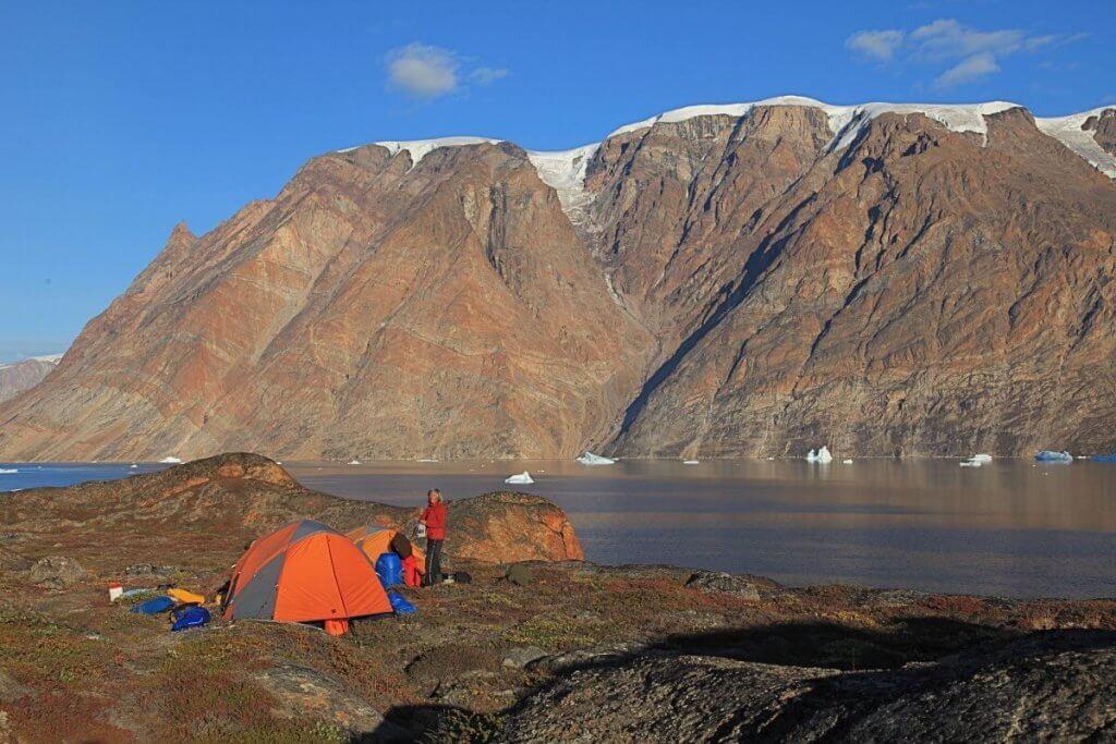 Le camp 14 sur l'île de Storo face au Snesund le 22 août 2010.