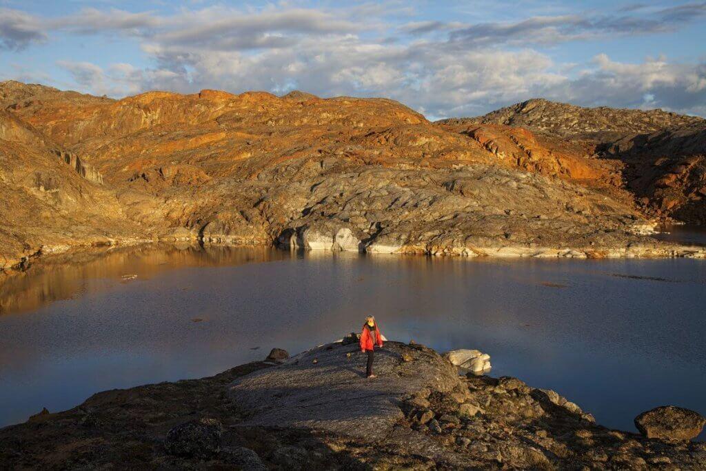 Traversée Upernavik - Kullorsuaq - Soirée au camp 6 le 31 juillet 2012.