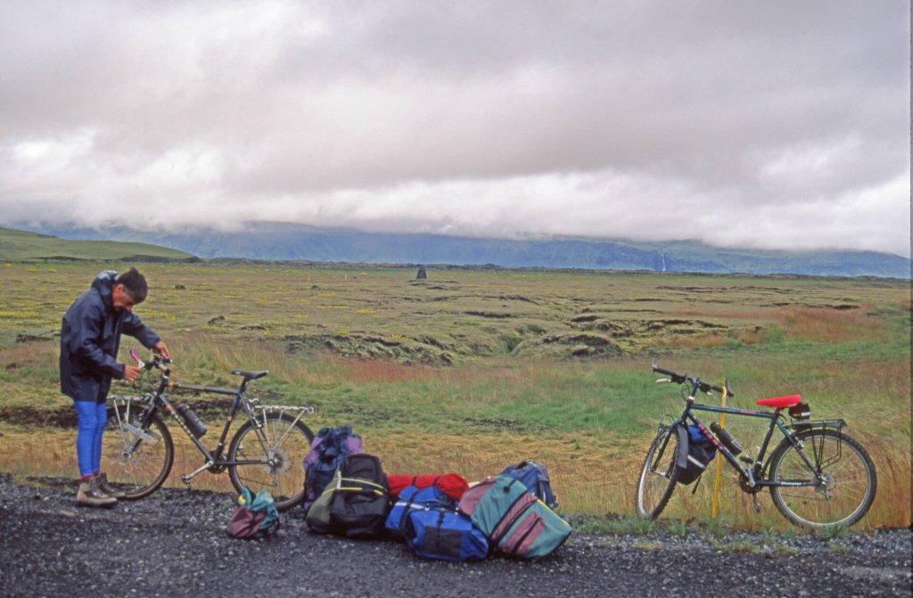 Au départ de la traversée, près de Vik, sur la côte sud de l'Islande.