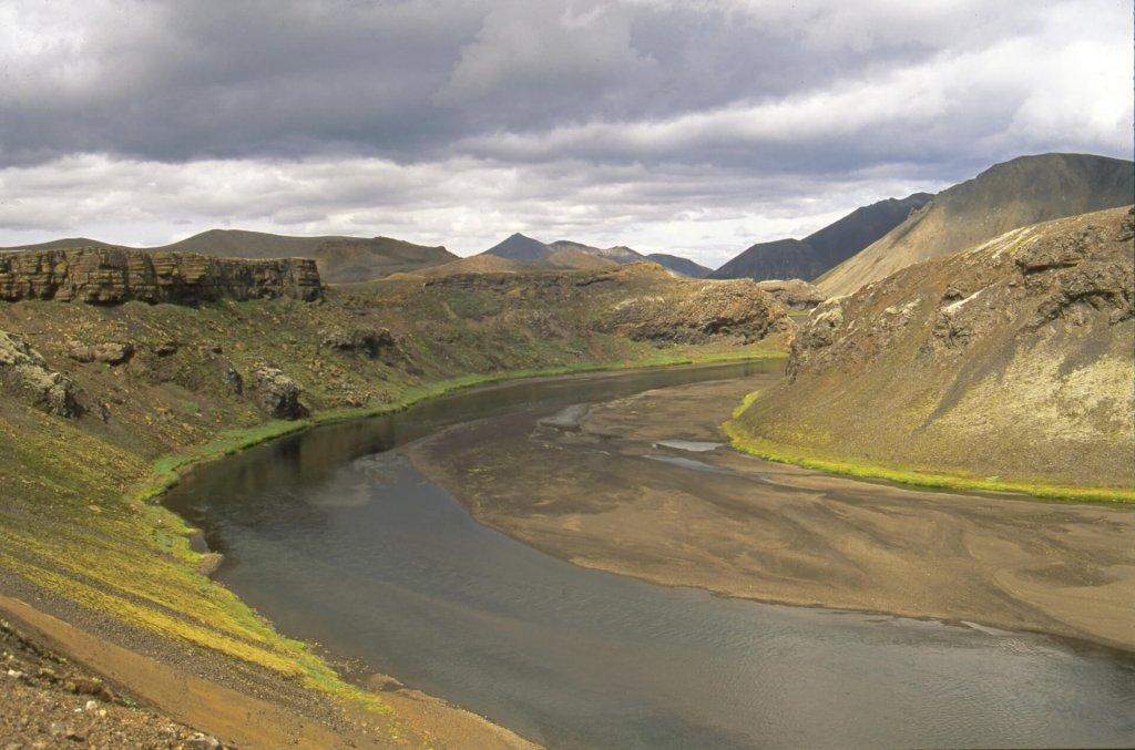 Paysage sur la route avant Landmannalaugar