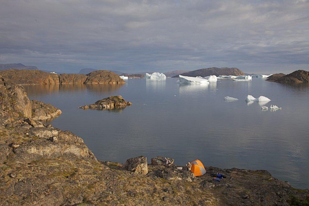 """Le camp 4, dit """"Camp des Inuits"""" le 29 juillet 2012."""