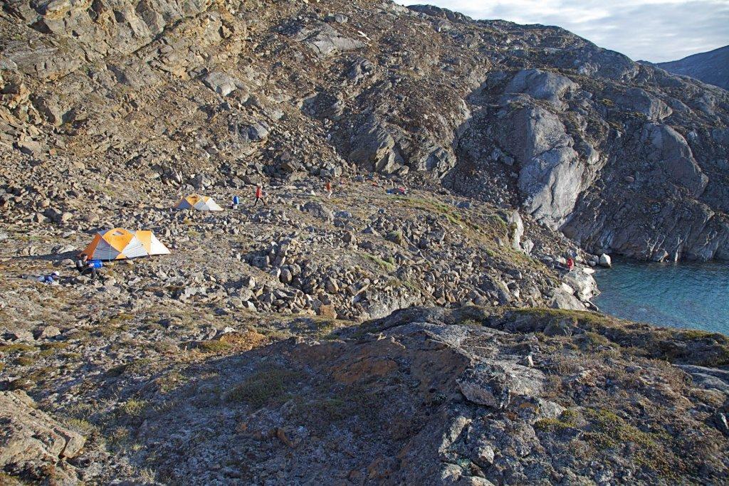"""Le camp 5, dit """"Camp du 5ème étage"""" le 30 juillet 2012."""