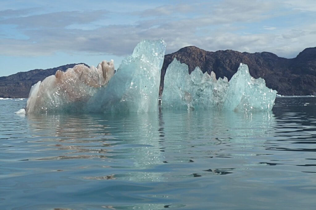 Glace en allant vers l'île aux sternes le 4 août 2007.