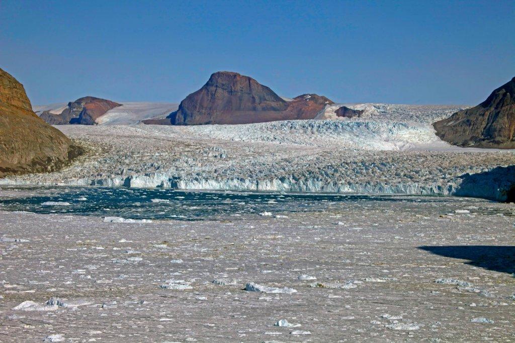 Le front du glacier Dietrichson. 4 août 2014.