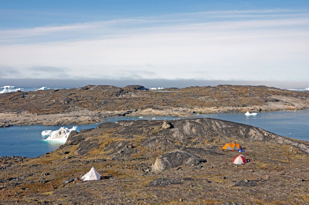 Le camp 7 sur Dépot Oer le 1er août 2014.