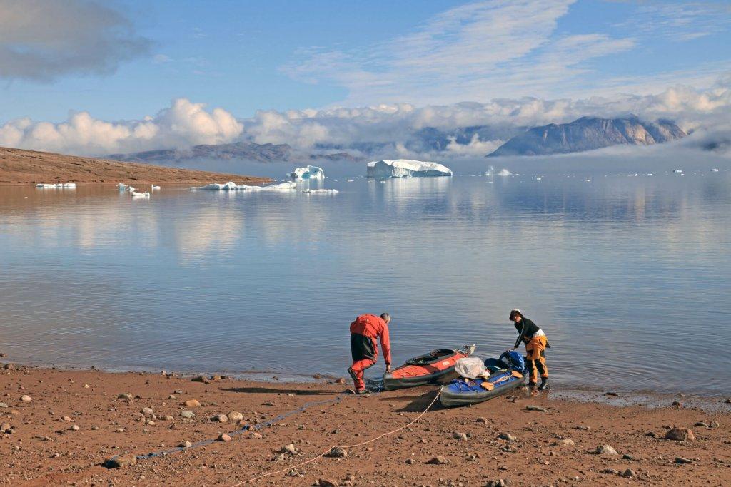 Départ du camp 10 dans le Rodefjord le 18 août 2010.