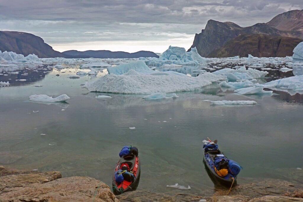 Traversée Upernavik-Kullorsuaq - Arrêt entre les camps 17 et 18 le 18 août 2012.