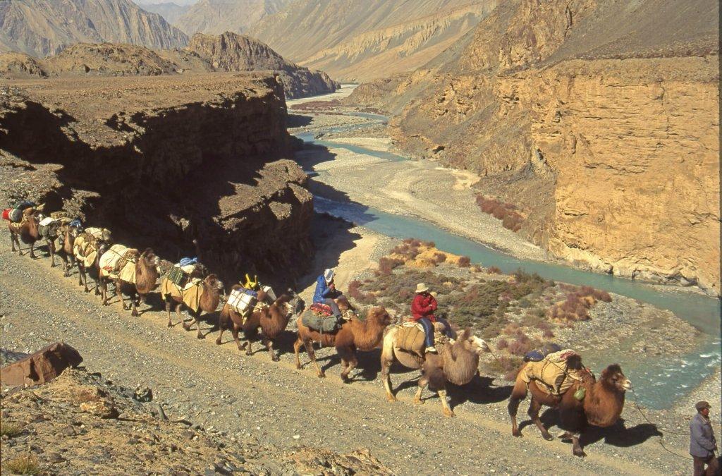 Retour dans la vallée de la rivière Yarkand. 20 octobre 1993.