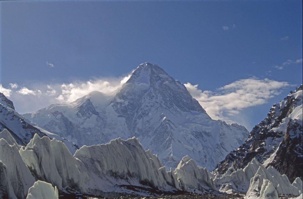 Le versant nord du K2. 22 septembre 1993.