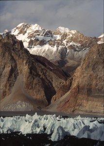 Glacier des Gasherbrum et vallée de la Shaksgam