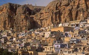 Le village chrétien de Ma'aloula, près de Damas