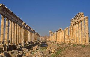 Apamée, grande allée des colonnes