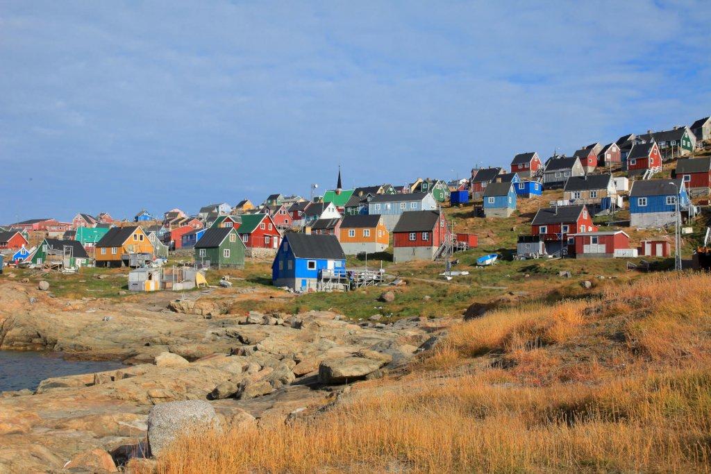Le village d'Upernavik le 26 juillet 2007.