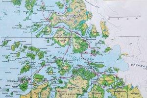 Carte 1 - La partie sud.
