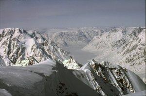 Le Furesoé vu du sommet du Snetoppen - 22 Avril 1984.