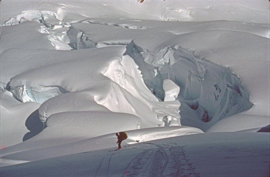 Descente du glacier de Canta - 22 Avril 1984.