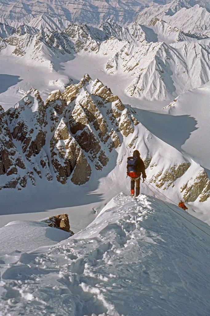 En quittant le sommet de Dunottar - 2 Mai 1984.