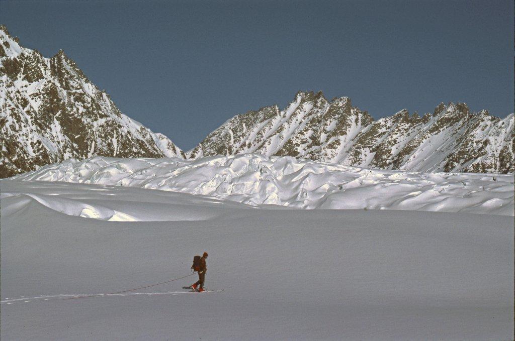 Sur le glacier Dunottar. 2 mai 1984.