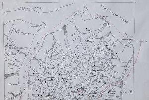 Carte des Alpes de Stauning, partie nord.