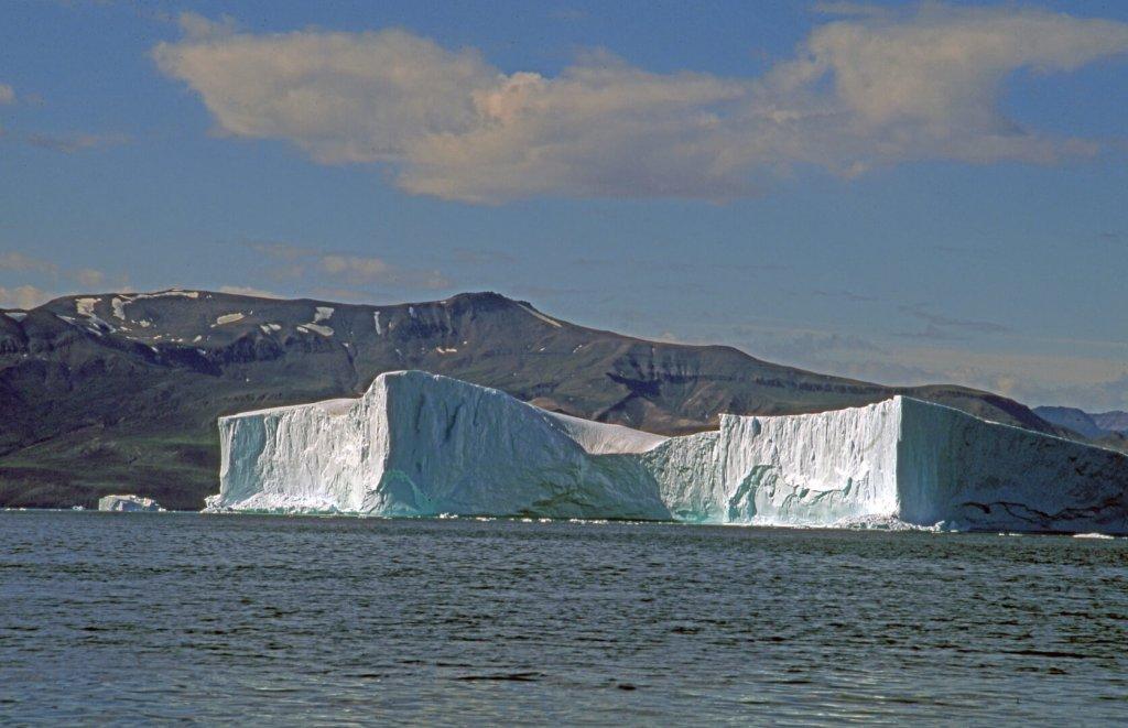 Iceberg à l'entrée de l'Uvkusigssat Fjord.