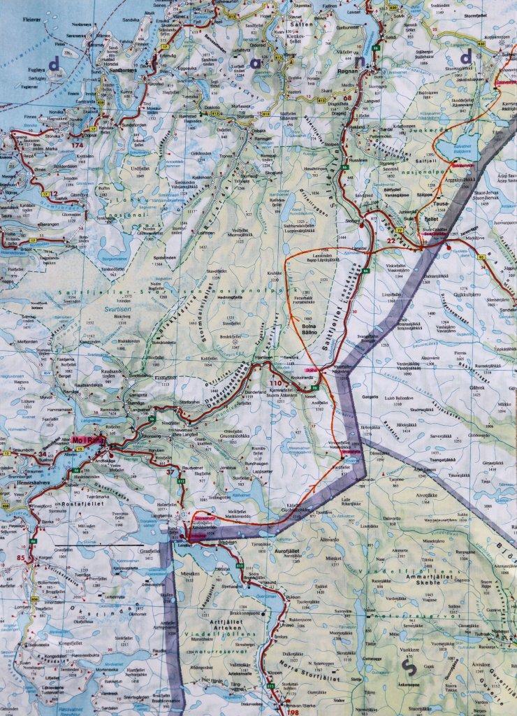 Carte 1 - La partie norvégienne.