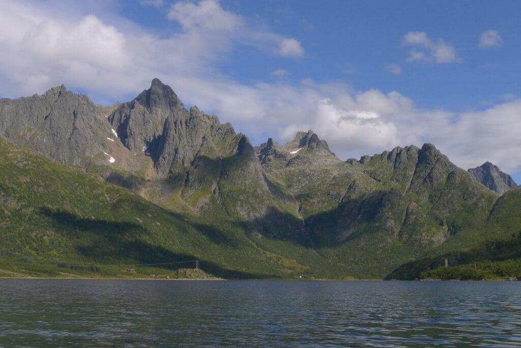 Entre les camps 24 et 25. L'Austpollen au fond de l'Austnesfjord le 20 août 2016.